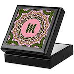 Vidalia Rose Monogram Keepsake Box