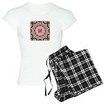 Vidalia Rose Monogram Women's Light Pajamas