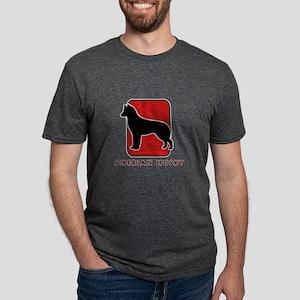 9-redsilhouette Mens Tri-blend T-Shirt