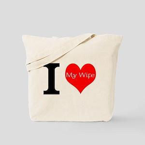 I Love My Wife Tote Bag
