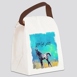 Appy Go Lucky Horse Canvas Lunch Bag