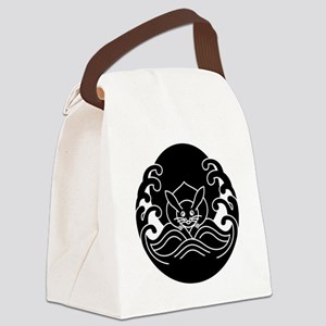 Wave moon rabbit Canvas Lunch Bag