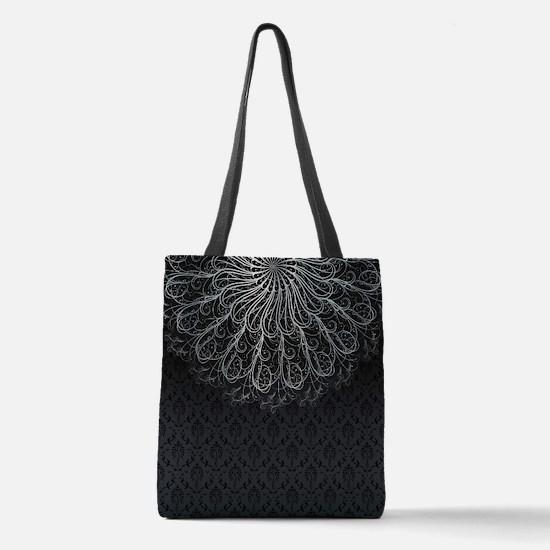 Elegant Pattern Polyester Tote Bag