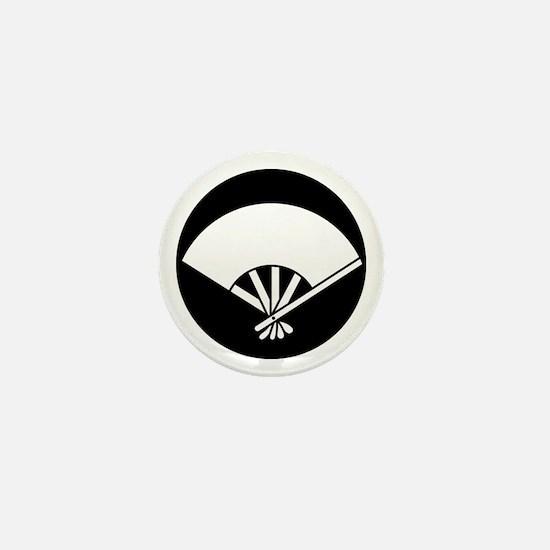Five bones fan in rice cake Mini Button