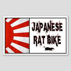 Japanese rat bike Sticker (Rectangle)