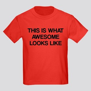 This is what Awesome looks like Kids Dark T-Shirt