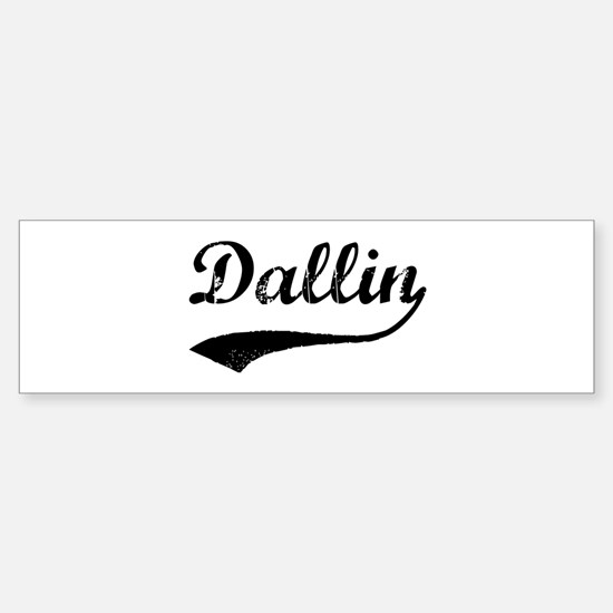 Vintage: Dallin Bumper Bumper Bumper Sticker