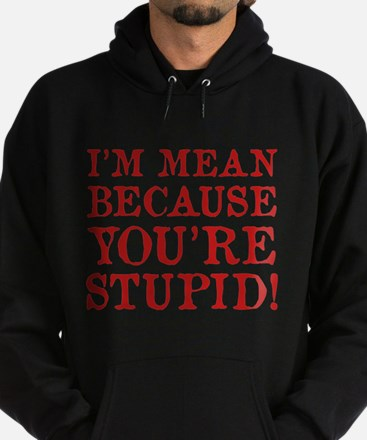 I'm mean because you're stupid! Hoodie (dark)