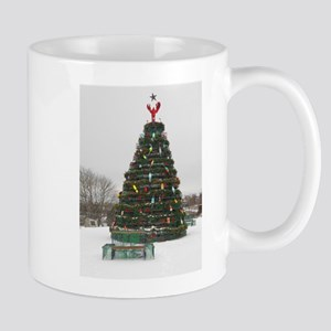 Lobster Trap & Bowie Christmas Tree Mug