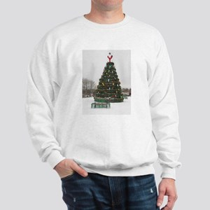 Lobster Trap & Bowie Christmas Tree Sweatshirt