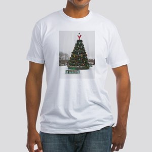 Lobster Trap & Bowie Christmas Tree Fitted T-Shirt