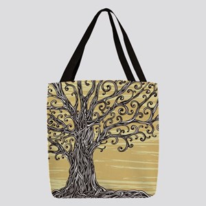 Tree Art Polyester Tote Bag