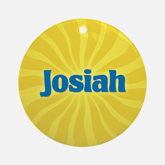 Josiah Sunburst Ornament (Round)