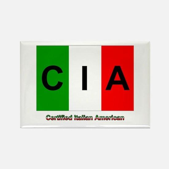 Certified Italian American Rectangle Magnet (10 pa
