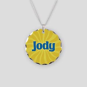 Jody Sunburst Necklace Circle Charm