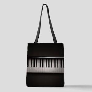 Piano Polyester Tote Bag