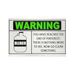 Pinterest Warning Clean Something Rectangle Magnet