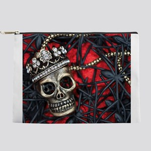 Skull and Spiders Makeup Pouch