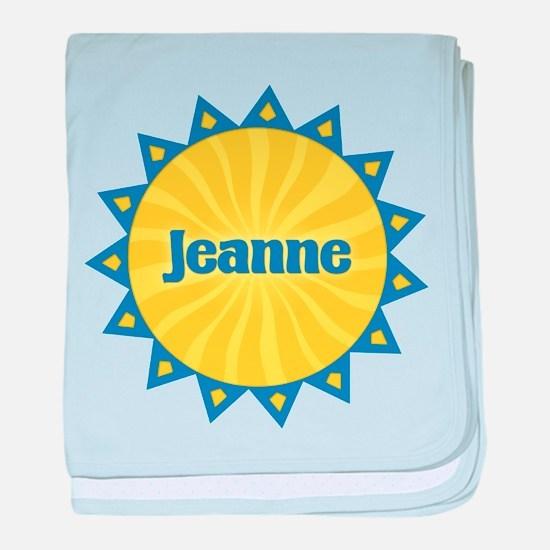 Jeanne Sunburst baby blanket