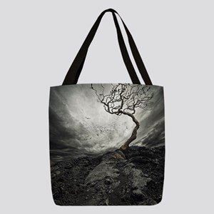 Dark Tree Polyester Tote Bag