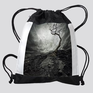 Dark Tree Drawstring Bag