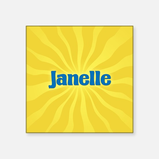 "Janelle Sunburst Square Sticker 3"" x 3"""