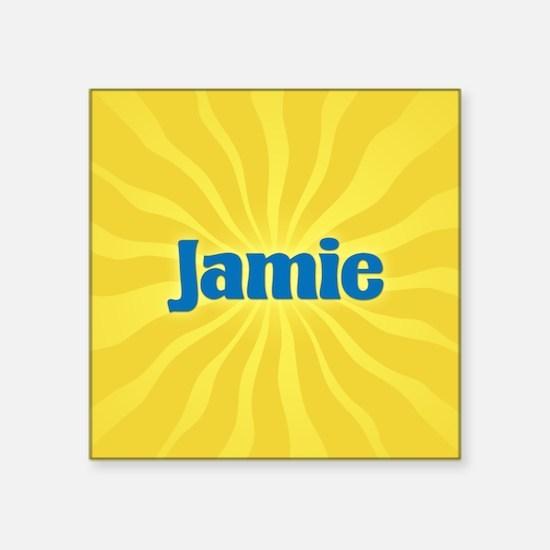 """Jamie Sunburst Square Sticker 3"""" x 3"""""""
