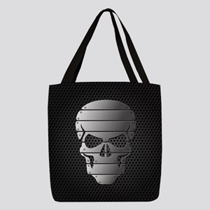Chrome Skull Polyester Tote Bag