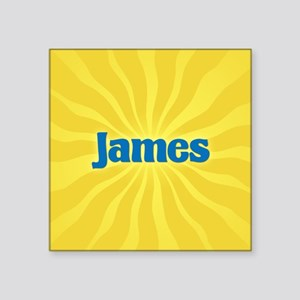 "James Sunburst Square Sticker 3"" x 3"""