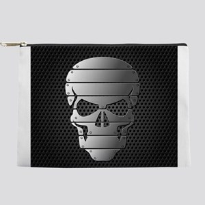 Chrome Skull Makeup Pouch