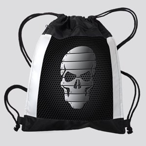 Chrome Skull Drawstring Bag