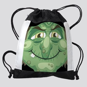 Witch Face Drawstring Bag