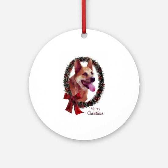 Australian Cattle Dog Christmas Round Ornament