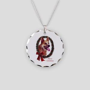 Australian Cattle Dog Christ Necklace Circle Charm