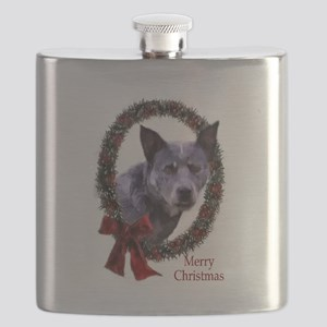 Australian Cattle Dog Christmas Flask