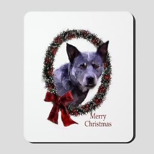 Australian Cattle Dog Christmas Mousepad