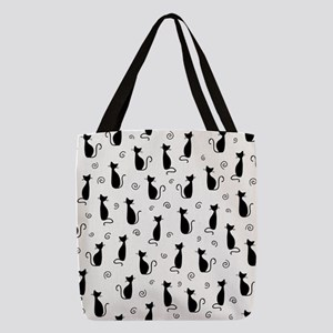 Black Cats Polyester Tote Bag