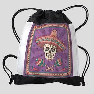 Mexican Skull Drawstring Bag