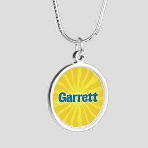 Garrett Sunburst Silver Round Necklace