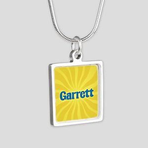 Garrett Sunburst Silver Square Necklace