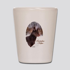Australian Kelpie Christmas Shot Glass