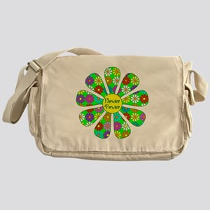 Cool Flower Power Messenger Bag