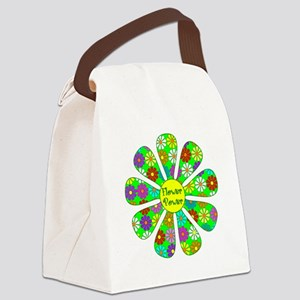 Cool Flower Power Canvas Lunch Bag