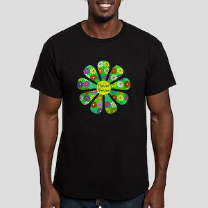 Cool Flower Power Men's Fitted T-Shirt (dark)