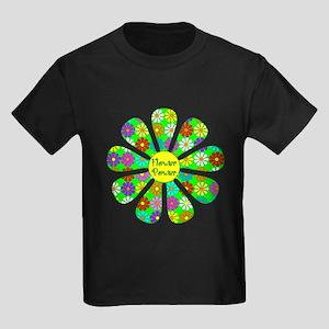 Cool Flower Power Kids Dark T-Shirt