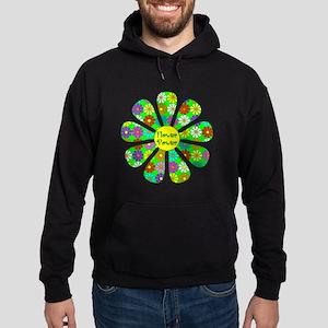 Cool Flower Power Hoodie (dark)