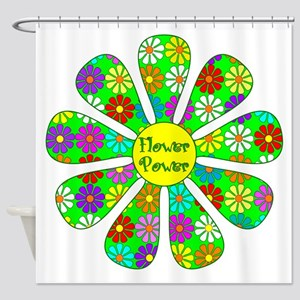 Cool Flower Power Shower Curtain
