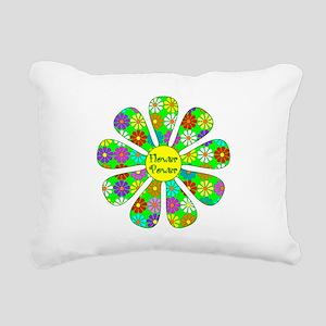 Cool Flower Power Rectangular Canvas Pillow