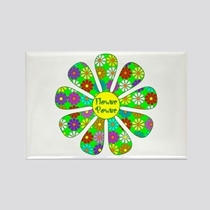 Cool Flower Power Rectangle Magnet