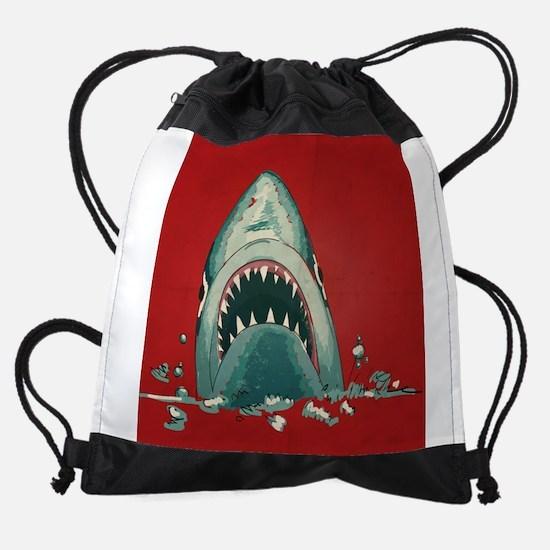 Shark Attack Drawstring Bag